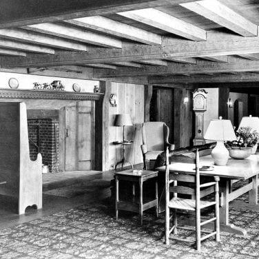 black and white original photo of historic Nassau Inn