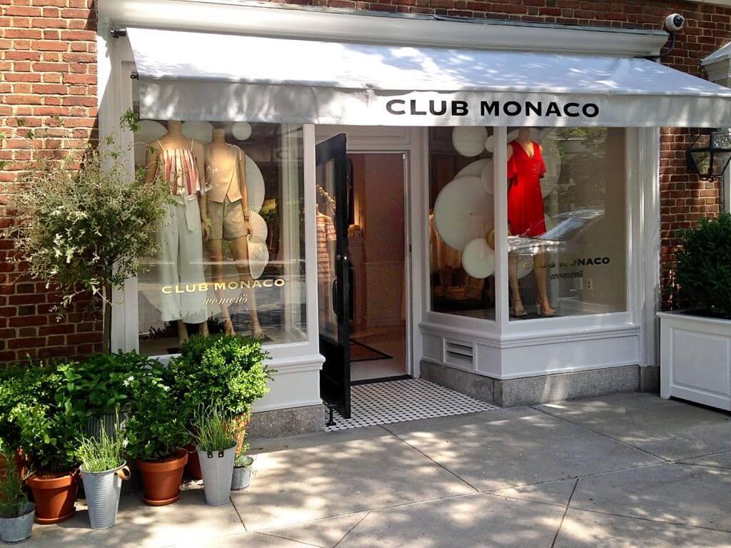 Club Monaco store front