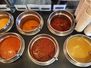 vats of soups