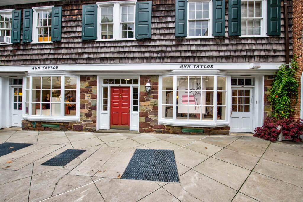Exterior of Ann Taylor at Palmer Square Princeton NJ