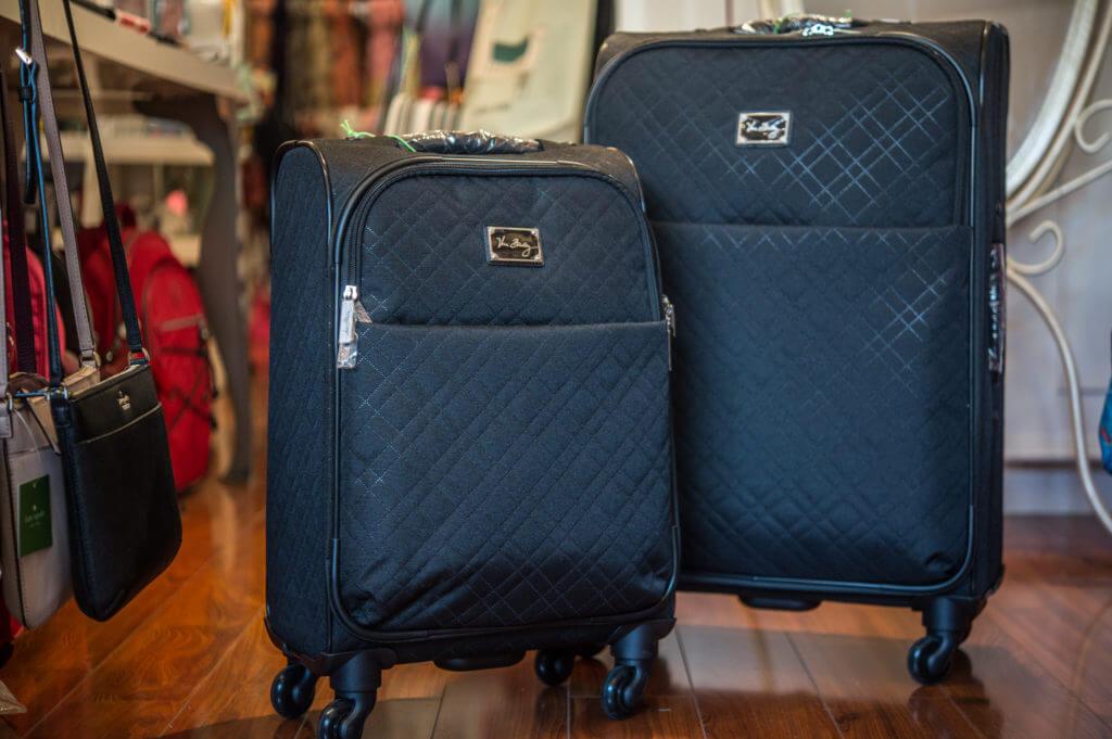 suitcases, black