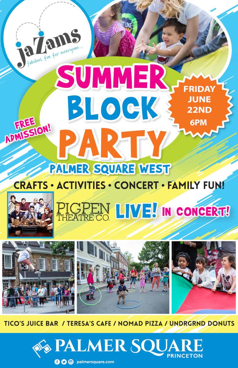 jaZams block party event art