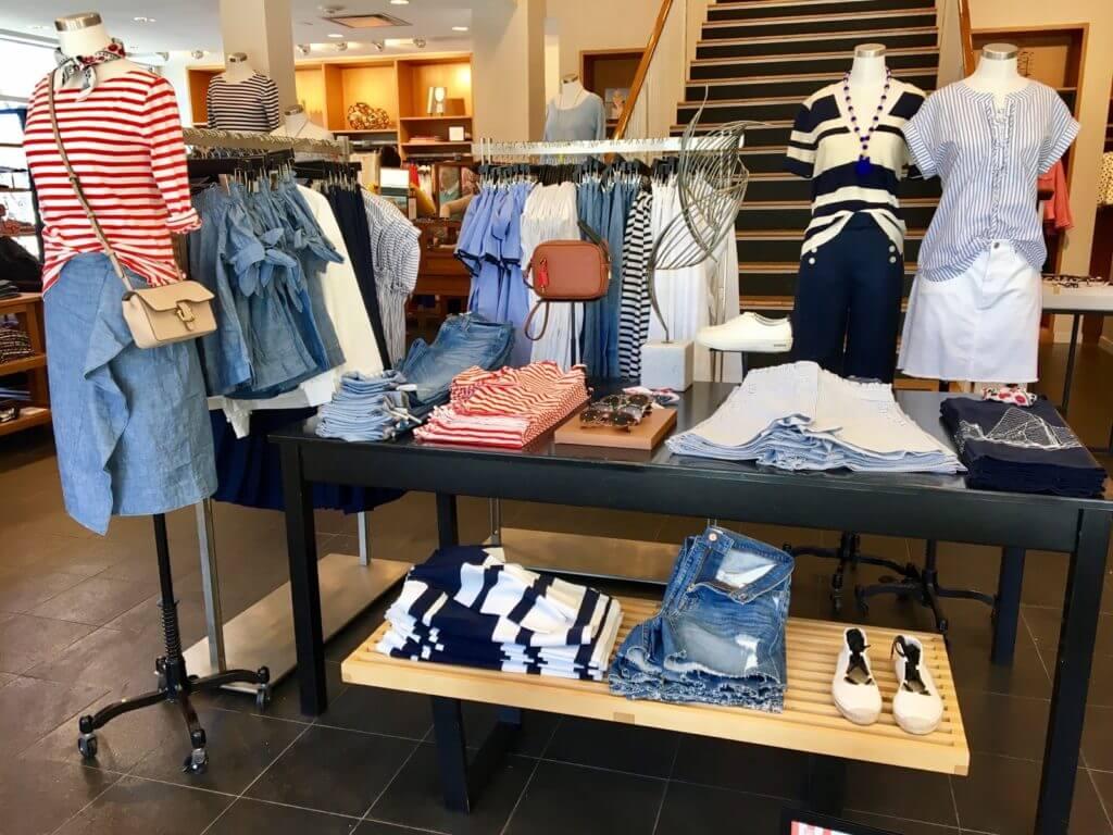 J.Crew spring clothing display