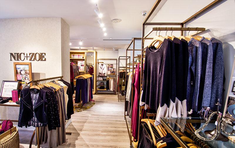 clothings racks inside store